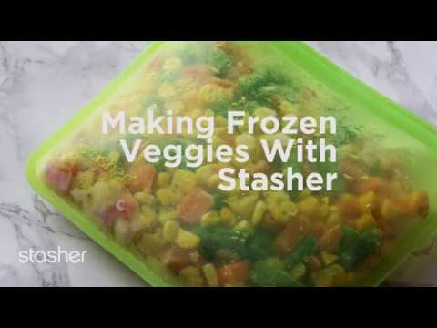 How to Freeze Vegetables with Stasher Bag