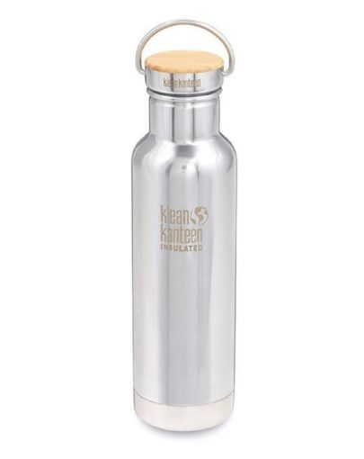 Botella termo acero inoxidable pulido Klean Kanteen 592ml 20oz Reflect (insulated)
