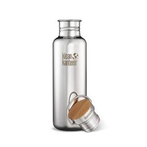 Botella Klean Kanteen 800ml 28oz Reflect pulido abierta