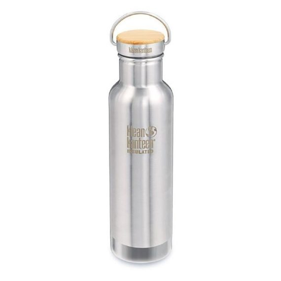 Botella termo acero inoxidable cepillado Klean Kanteen 592ml 20oz Reflect (insulated)