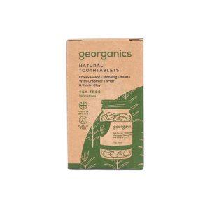 Pasta de dientes natural de árbol de té en pastillas