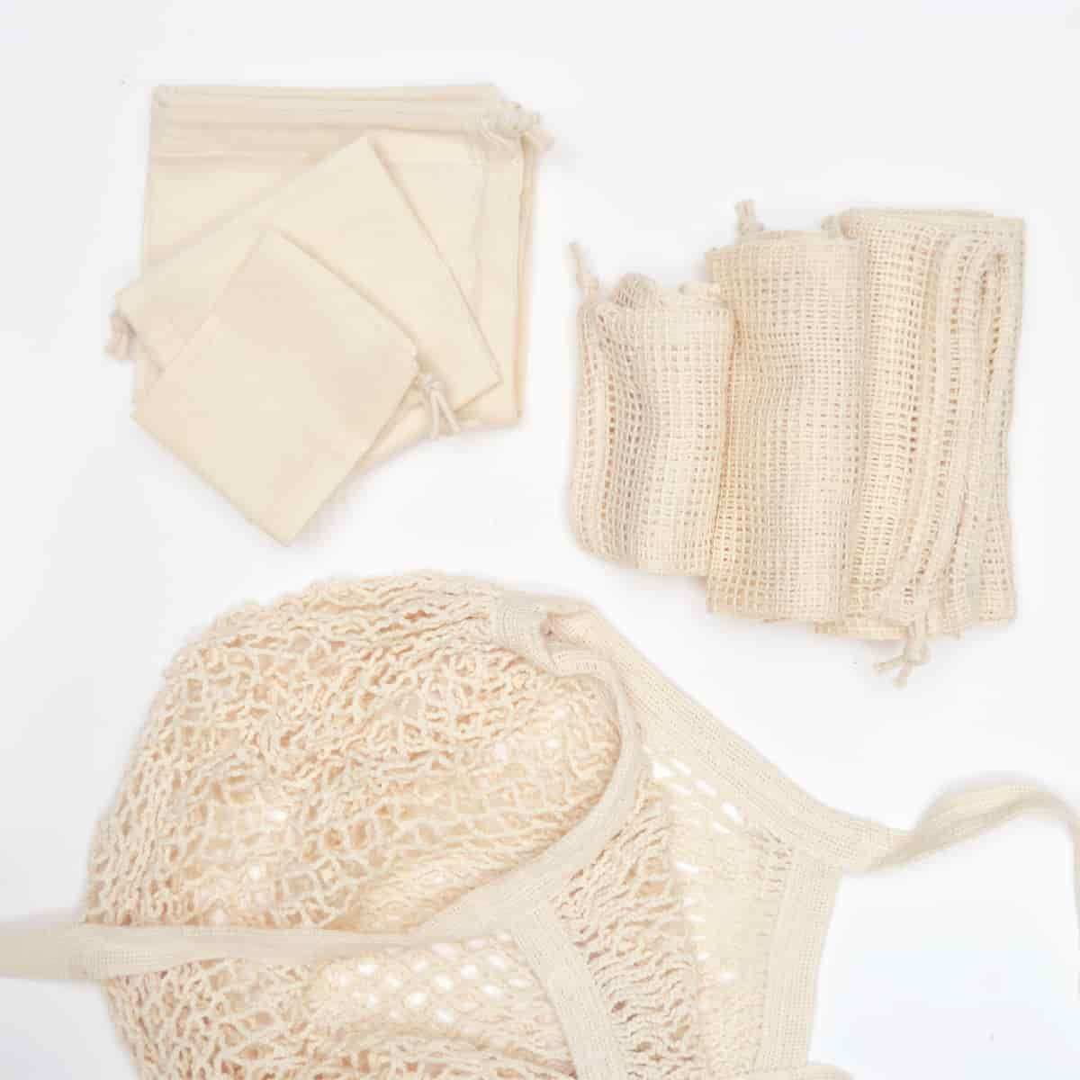 Kit bolsas de algodón, iniciación al Zero Waste