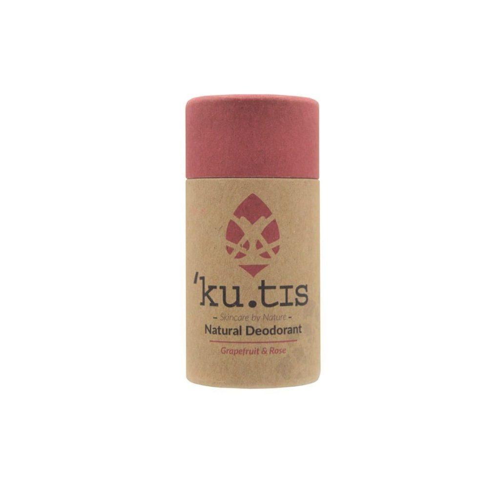 Desodorante en barra natural de uva y rosa sin aluminio
