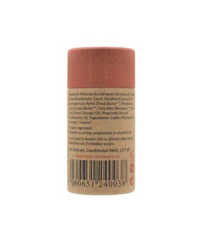 Desodorante natural en barra de naranja y patchouli con bicarbonato