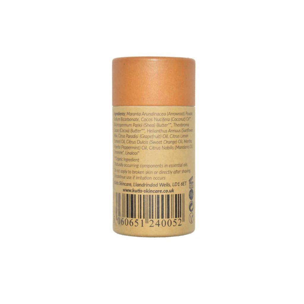 Desodorante natural en barra de uva y mandarina con bicarbonato