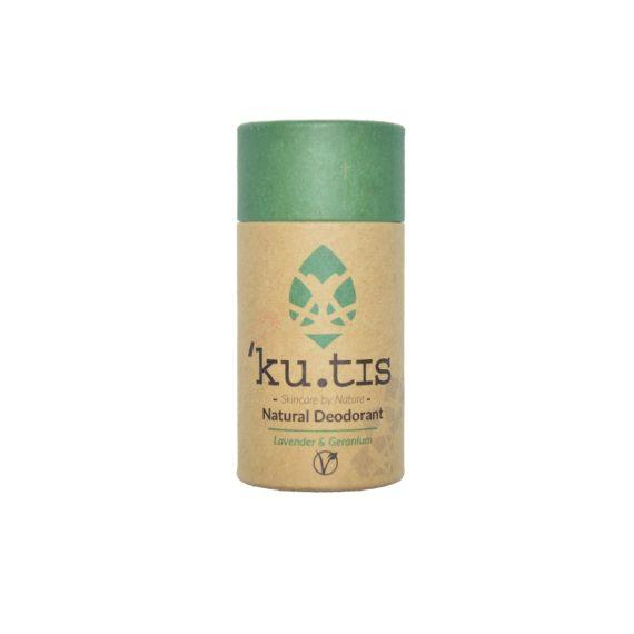 Desodorante natural en barra de lavanda y geranio ecológico y efectivo