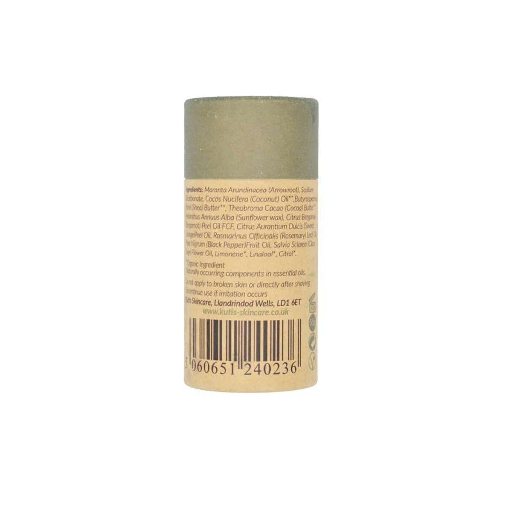 Desodorante en barra de bergamota y salvia