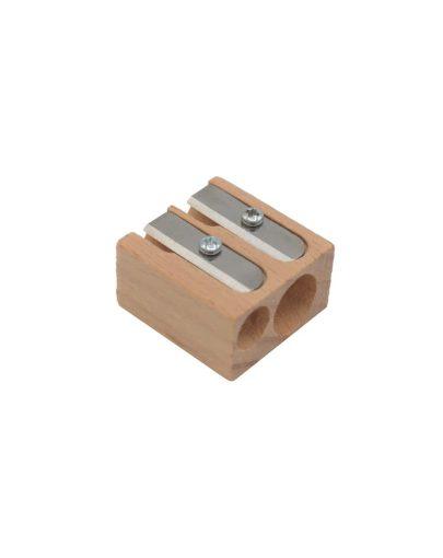 Sacapuntas de madera de doble uso