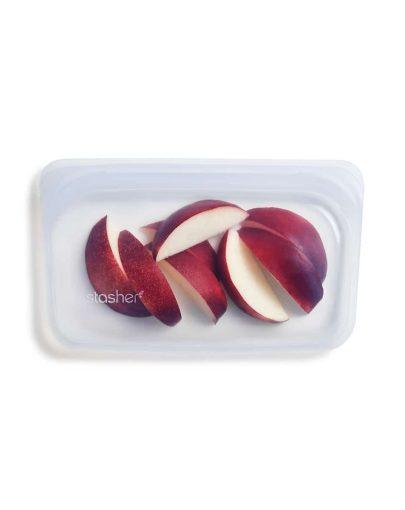 Bolsa de silicona alimentaria hermética transparente pequeña