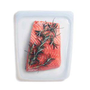 Bolsa de silicona alimentaria hermética transparente grande