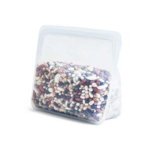 bolsa de silicona platino base de pie pequeña transparente