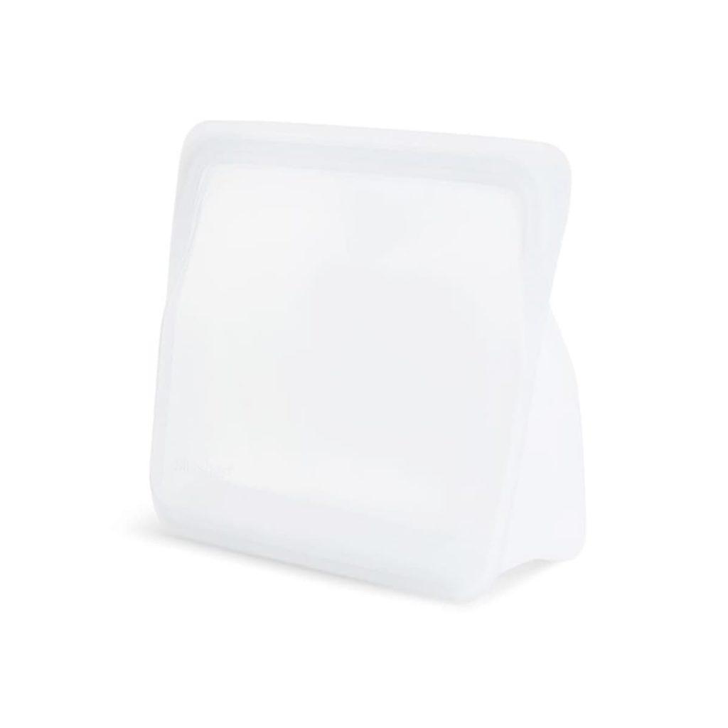 Bolsa de Silicona platino con base de pie Stasher Pequeña transparente