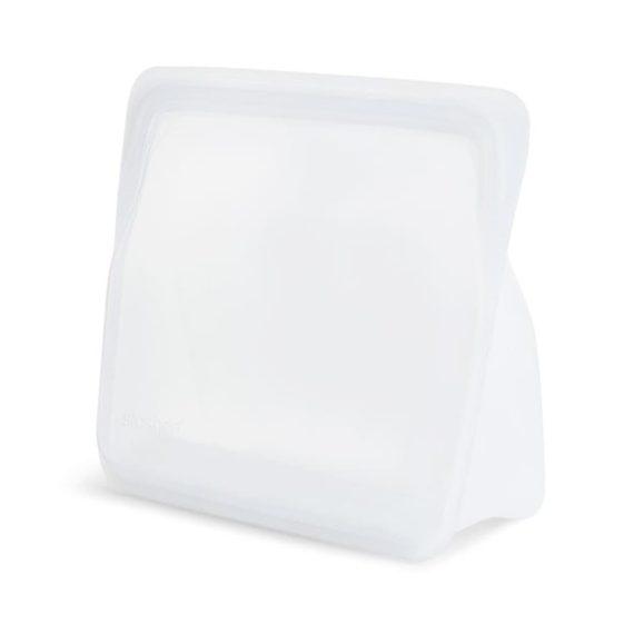 Bolsa de Silicona platino con base de pie Stasher Grande