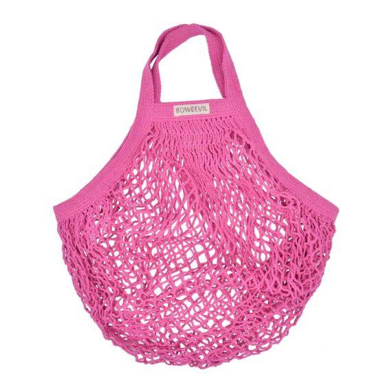 bolsa malla rosa