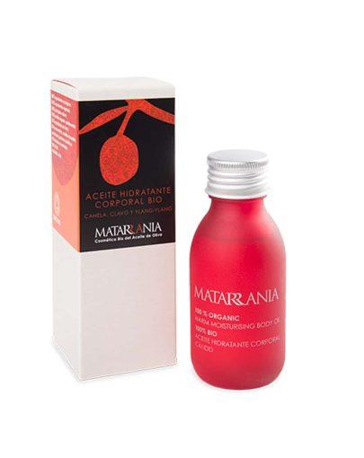 Aceite hidratante corporal de canela y clavo ecológico