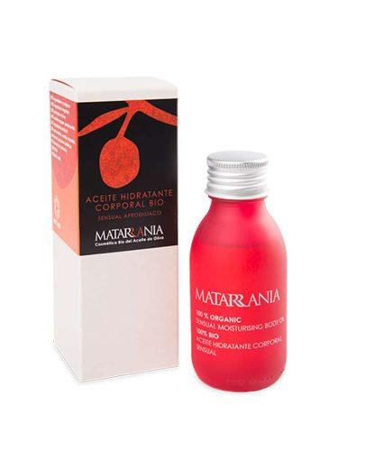 Aceite hidratante corporal sensual ecológico