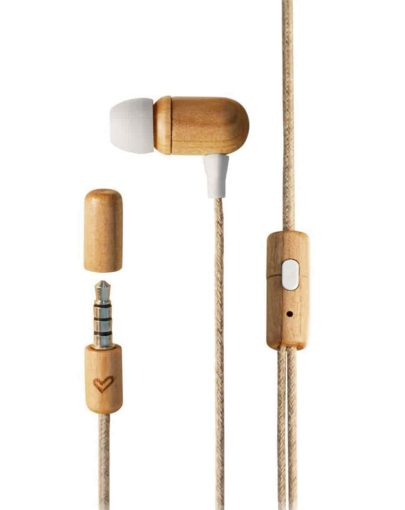 Auriculares eco cherry wood