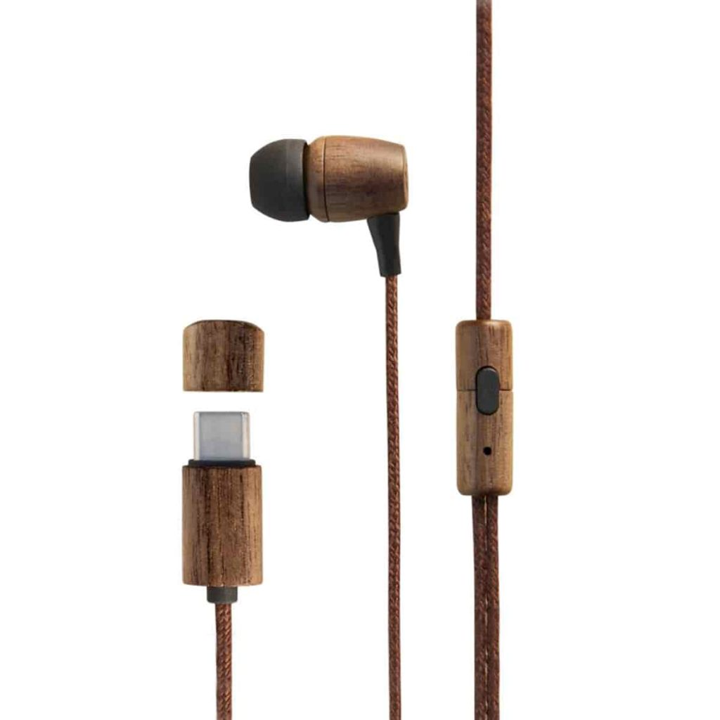 Auriculares eco walnut wood
