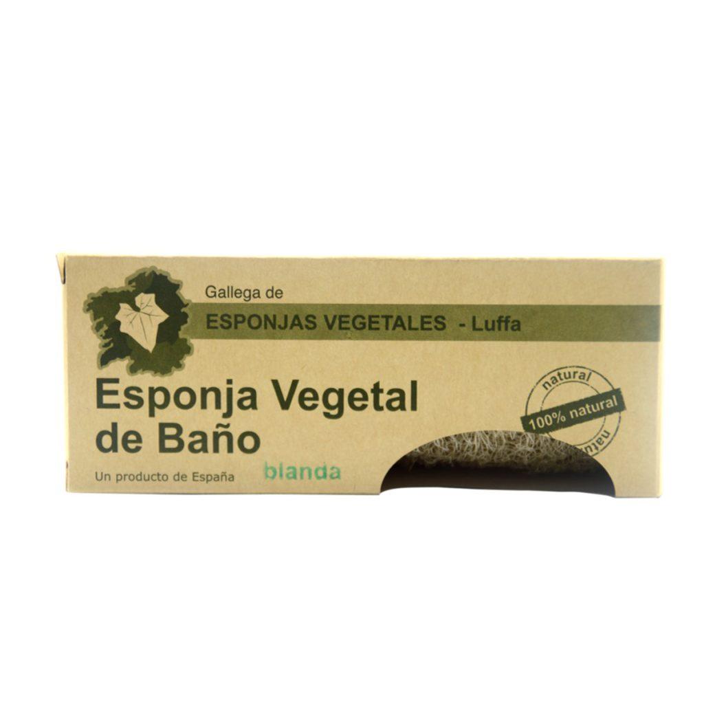 Esponja vegetal de luffa blanda caja