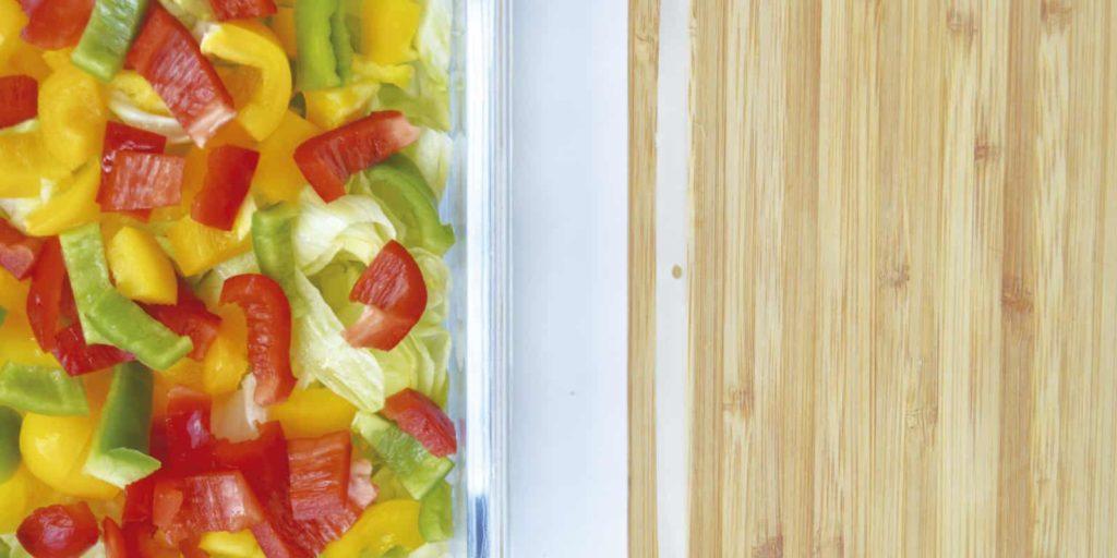 Almacenar verduras en tupper sin plástico
