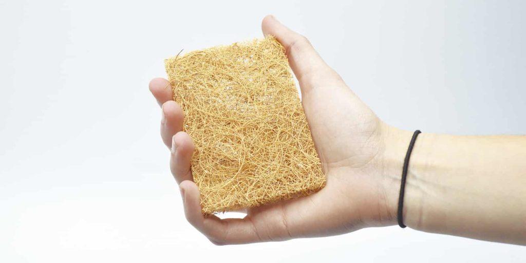 Estropajo de fibras de coco