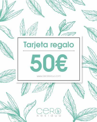 Tarjeta Regalo Cero Residuo valor 50€